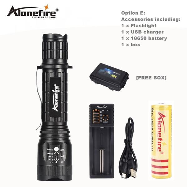 1000LM USB Lampenlicht Mini LED Zoom Taschenlampe wiederaufladbar im Freien