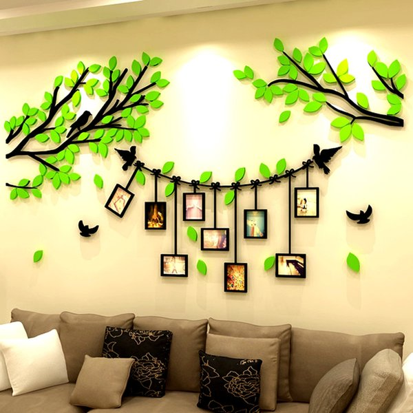 Wholesale 1 Pcs 3D DIY Acrylic Family Tree Bird Wall Stickers with ...