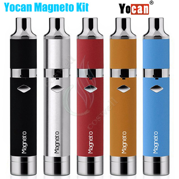Yocan Magneto Kit Wax Vaporizer 1100mAh Battery Magnetic Coil Cap Built-in Silicone Jar Ceramic Crystal Coils Herbal Vapor Pen Magneto Vape