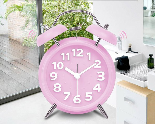 hot sellingAuthentic fit to fly lazy snooze Creative Kids machinery doubles bell alarm clock winding small bedroom alarm clock free shipping