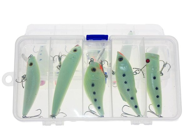 Wholesale Promotion 2PCS Luminous Fishing Lure Sets Minnow Pencil Popper Rattlin Crankbaits Kits or Artificial Hard Baits for Saltwater