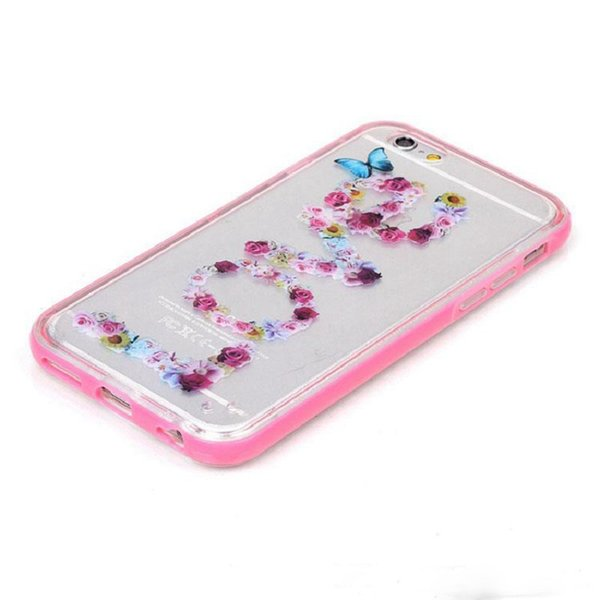 Henna Paisley Flower Butterfly TPU+Hard PC Bumper Flash Up Light Lncoming Call LED Case for Smart Phone Cell Phone Skin