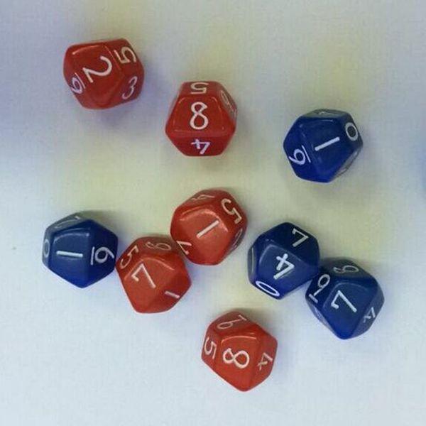 Dado poliedrico in plastica da 10 pezzi Set da gioco per giochi da tavolo