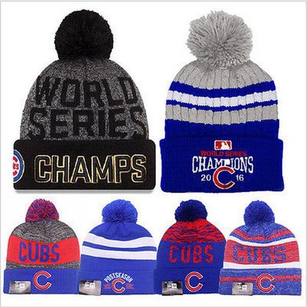 ae9076dc57db5 ... discount code for chicago cubs 2016 world series champs cubs beanies  high quality beanie mlb caps