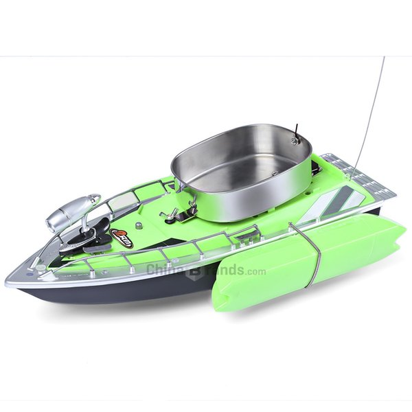 Wholesale- New Arrival Electric Wireless Mini RC Bait Boat Fast RC Fishing Adventure Lure Bait Boat with US Plug/EU Plug for Finding Fish