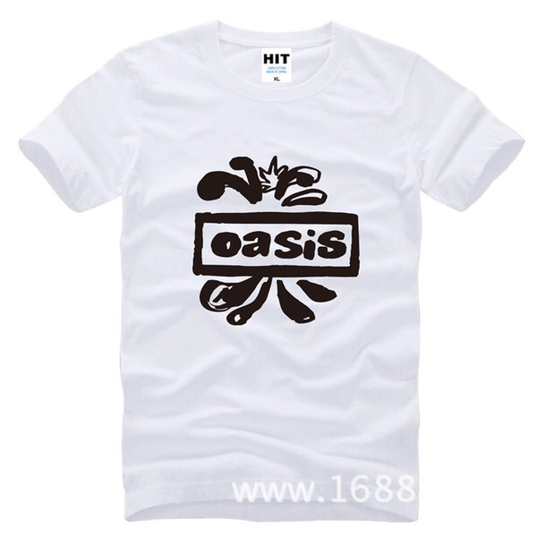 2017 new fashion Oasis band rock Printed Men's T-Shirt Fashion Cotton T Shirt For Men Short Sleeve O Neck Casual Top Tee