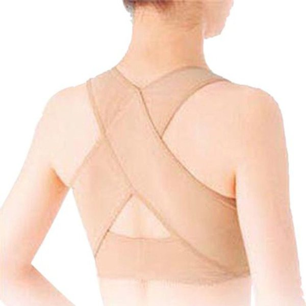 Wholesale- New Women Shapers Chest Body Brace Support Belt Band Posture Corrector X Type Back Shoulder Vest Protector Clothes