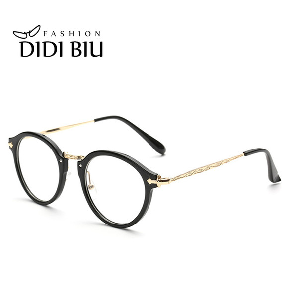 e725b87b469 DIDI Thin Eye Glasses Frames Goggles Gold Flower Round Metal Eyeglass Frame  Women Prescription Eyewear Optical