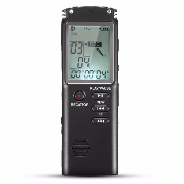 Wholesale- Portable 8GB LCD Digital Audio Voice Recorder Dictaphone Rechargeable MP3 Player With Earphone Built-in Microphone