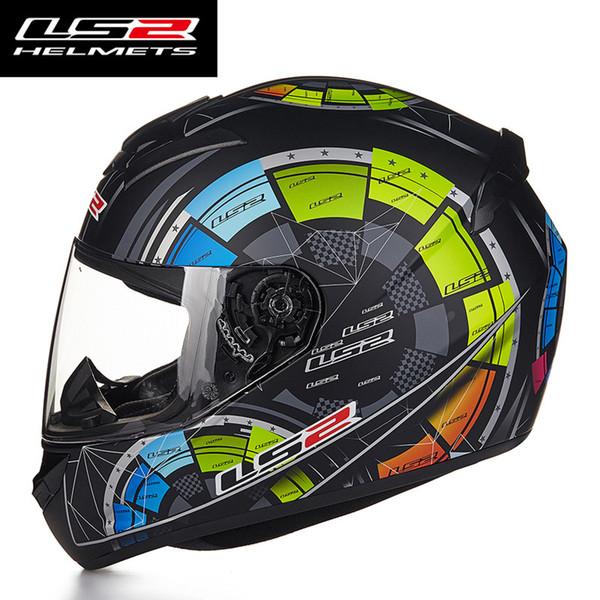 Wholesale- Hot Sale LS2 FF352 Motorcycle Helmet Skull Full Face Mens Racing Helmets ECE Approved Capacetes Casco Moto L XL XXL Size