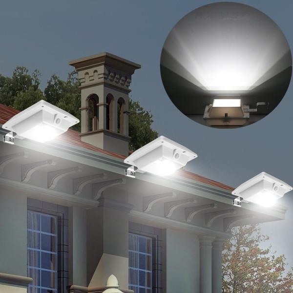 4 LED Solar Motion Sensor Light Outdoor PIR Sensor Solar Powered Lamp Waterproof Durable Fence Wall Driveway Garden Patio Path Decking Light