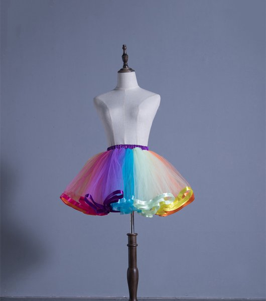 Colorful Short Children Petticoat Dance Ball Gown Slip For Flower Girls High Quality Kids' Accessories Free Shipping