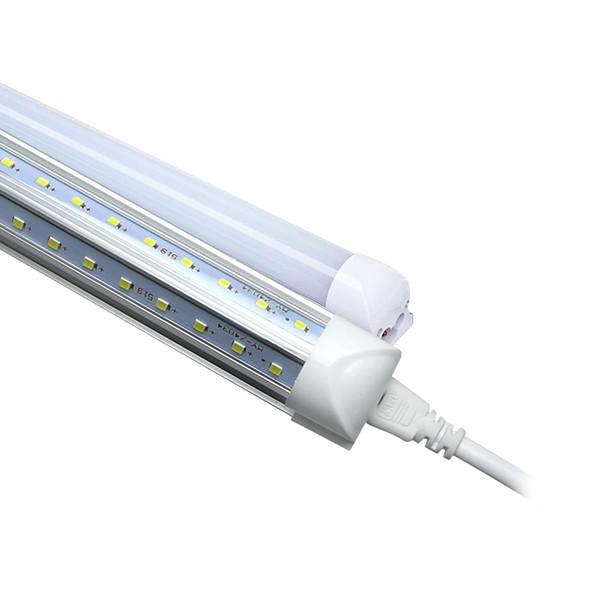 Integrate LED T8 Bulb V Shape 8FT 96'' LED 4FT 5FT 6FT 2.4M LED Tube Light Replacement Fluorescent Lamp