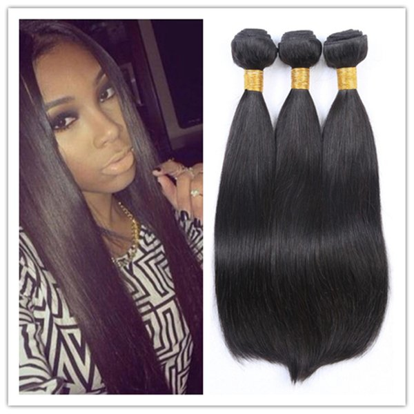 Brazilian Body Wave Straight Human Hair Weave Wavy Hair Extensions