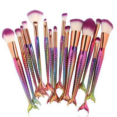 Coloured handle purple bristles