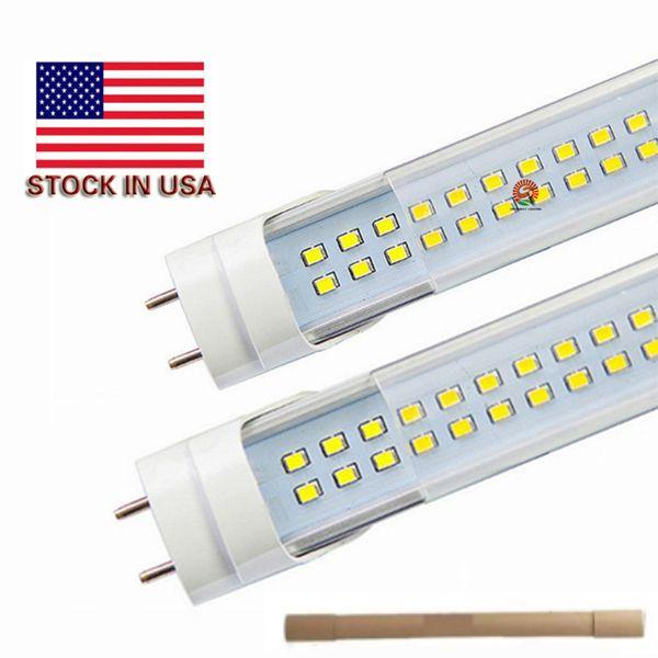 Stock negli Stati Uniti + 4ft ha condotto i tubi t8 luce 22W 28W 1200mm ha condotto la lampada fluorescente sostituisce il tubo normale AC 110-240V UL FCC