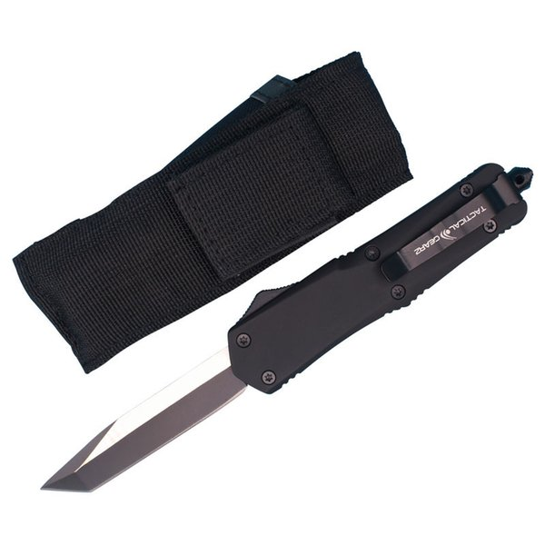 Allvin Manufacture A07 AUTO Tactical Knife 440C Single Edge Tanto Fine Blade EDC Pocket Knife Survival Gear With Plastic Box Package