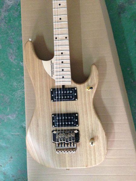 Guitarra do costume Wash N4 Nuno Bettencourt Natural elétrica bordo Fingerboard Abalone Dot embutimento Tremolo ponte Stephens Estender Cutaway