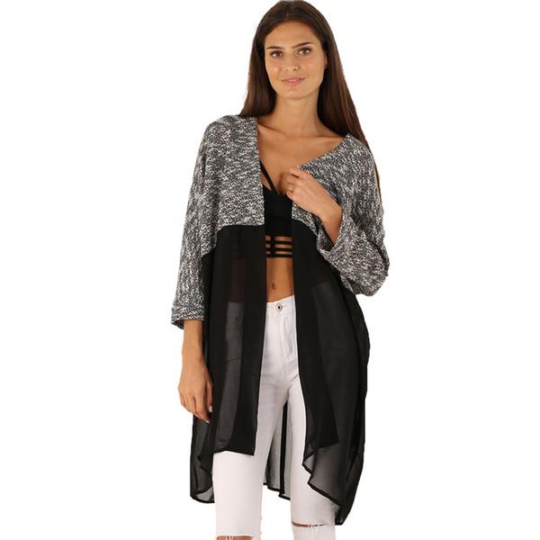 Wholesale-Cardigan women sweater oversized knitting sweater women Long  Cardigan womens sweaters fashion 2015 autumn 13ec4bf5f