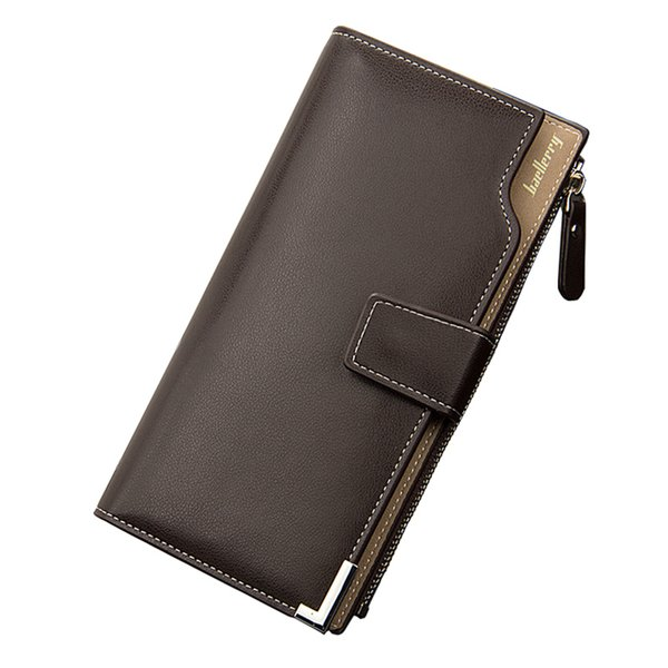 Wholesale- Top Quality multifunction men wallets Wallet Men soft leather male clutch Leather Purse big capacity Baellerry Brand !
