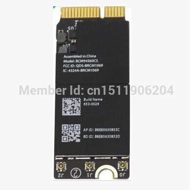 Toptan-Broadcom BCM4360 BCM94360CSAX WLAN + Bluetooth4.0 Kart A1398 A1502 A1425 653-0029