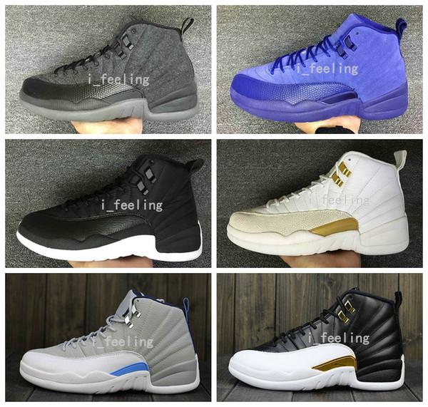 9b30f49b97f4 2016 New Air Retro 12 Basketball Shoes OVO Wool Men Women Training Good  Quality Leather Retro