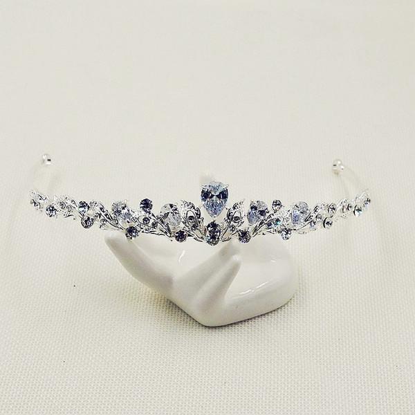 Precioso 3A zircon diamond-tachonado diadema Joyas de alta calidad hairband Bling Wedding nupcial accesorios para el cabello S4288