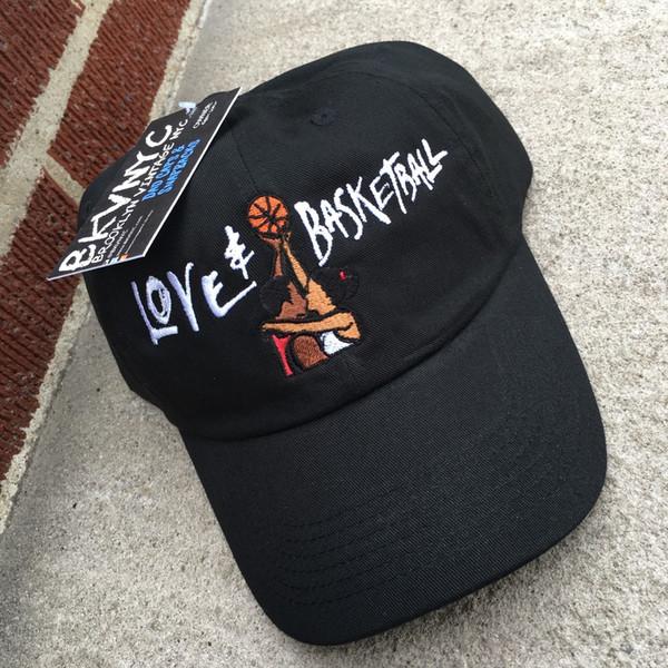 Schwarzer Liebes-Basketball-Film-Vati-Hut-Hut OG 90s Vtg Retro Art DRAKE KANYE Knochen Swag casquette Hüte für Männer Frauen 6 Panel Hut Gorras Knochen