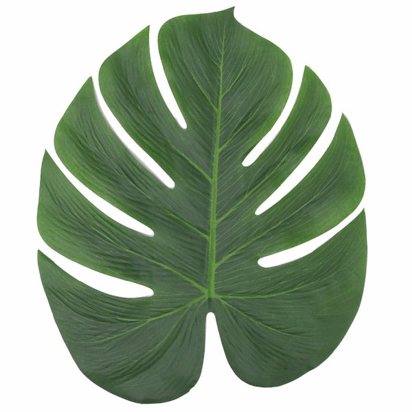 24Pcs Wedding Party Decoration Artificial Tropical Palm Leaves For Banquet Table Decorations Dining Table Placemats 35x29cm