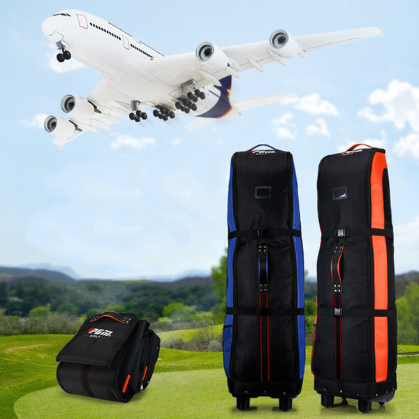 best selling Wholesale- Drop Shipping Golf Aviation Bag Double Layer Airplane Travelling Golf Bag with Pulley Durable Thicken Consignment Packages