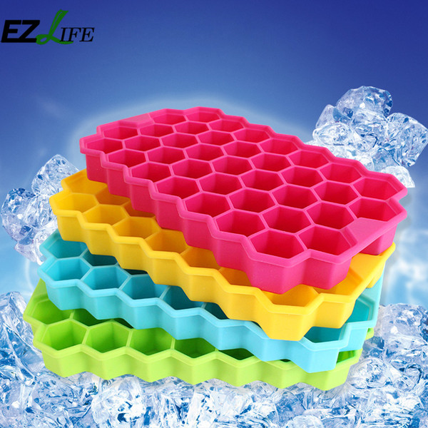 Random Color Alveolate Chocolate Candy Making Mold Tool Ice Make Tool DIY Silicone Chocolate Mold Valentine's Day Gift ZH01712