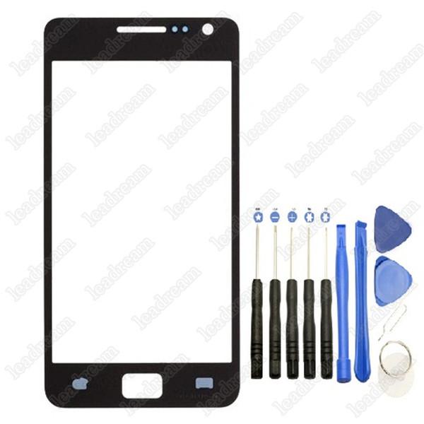 Sostituzione cover frontale in vetro touch screen esterno per Samsung Galaxy s2 i9100 con strumenti
