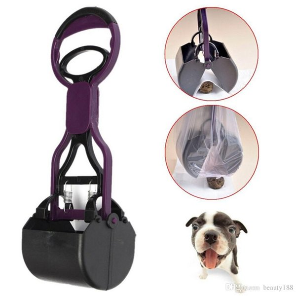 Pet Pet Dog Pet Pooper Scooper Manico lungo Jaw Poop Scoop Clean Pick Up Animal Waste Dog Cat Detergente per cantiere