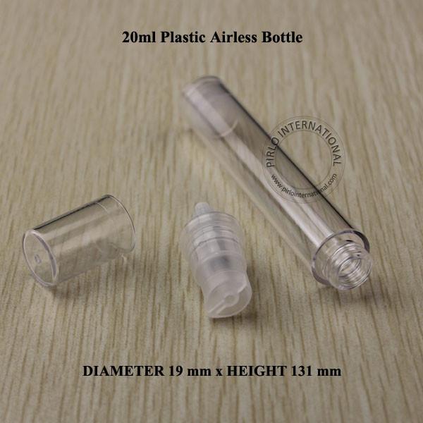 20 ml PS Airless Cream Lotion Pump Spray Bottle Cream Container Dividir botellas de carga Envase cosmético Botella de plástico 100pcs