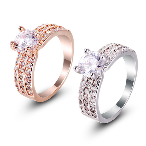best selling 2017 high-quality new diamond ring, ladies ring, fashion European and American jewelry, jewelry set, a variety of fashion ring jewelry whole