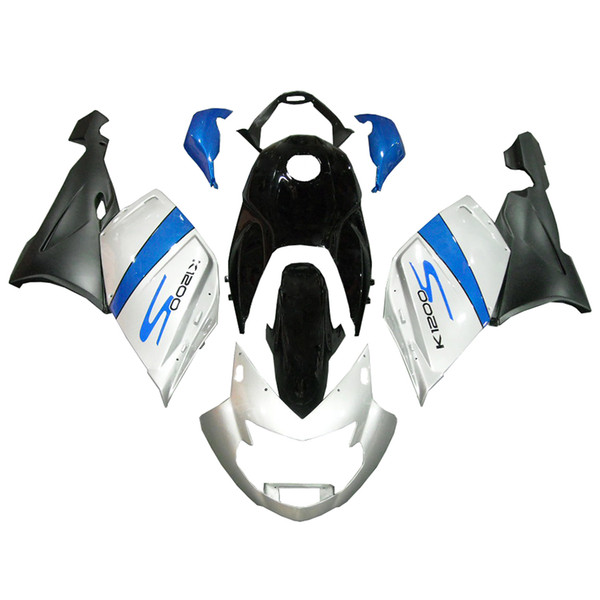 3 free gifts Complete Fairings For BMW k1200s 2005-2008 ABS Plastic Motorcycle Fairing White Blue Black v28