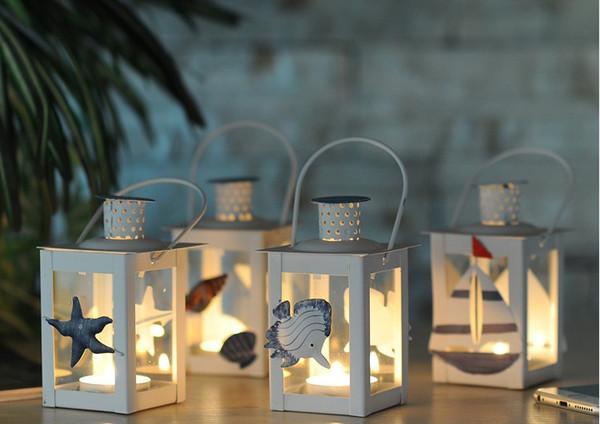 Cheap sale White Metal candle holders Iron lantern wedding candelabra candelabra centerpieces wedding moroccan lanterns candle lantern