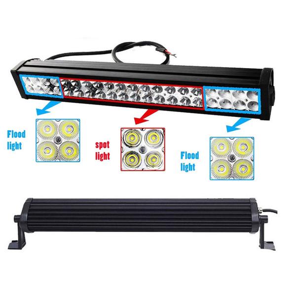 """24"""" Inch 120W LED Working Light Bar for Offroad Boat 4WD Fog Lamp Car Jeep Truck Ford Trailer Spot Flood Combo Beam SUV ATV UTV UTE 10-30V"""