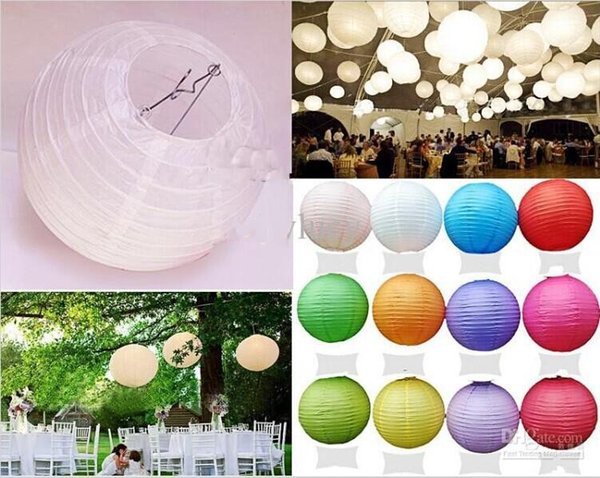 "16""( 40cm)Big Size Chinese paper lantern round lamp Wedding Decor Ball, festival decoration hanging Lamps party supplies"