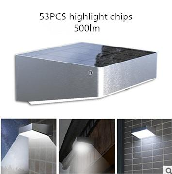Solar Wall Light with Motion Sensor Highlight Outdoor Solar Wall Lamps 53pcs LED Chips Garden Lamps