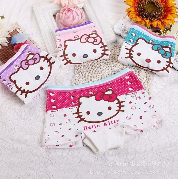 best selling girl cartoon cotton underwear recycled fiber stickers cartoon childrens underwear, 1 packs of 4, free shipping