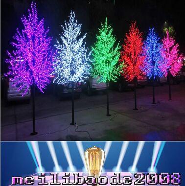 2017 nuove lampadine a LED Cherry Blossom Tree Light Red / Blue / Green / Yellow / White / Pink / Puple Facoltativamente 1.8M / 860LED Altezza albero di natale YY