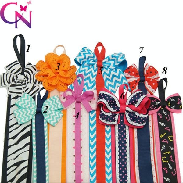 8 pçs / lote 8 estilos impresso fita cabelo arco titular para mostrar crianças hairgrips moda presilhas acessórios para o cabelo headwear