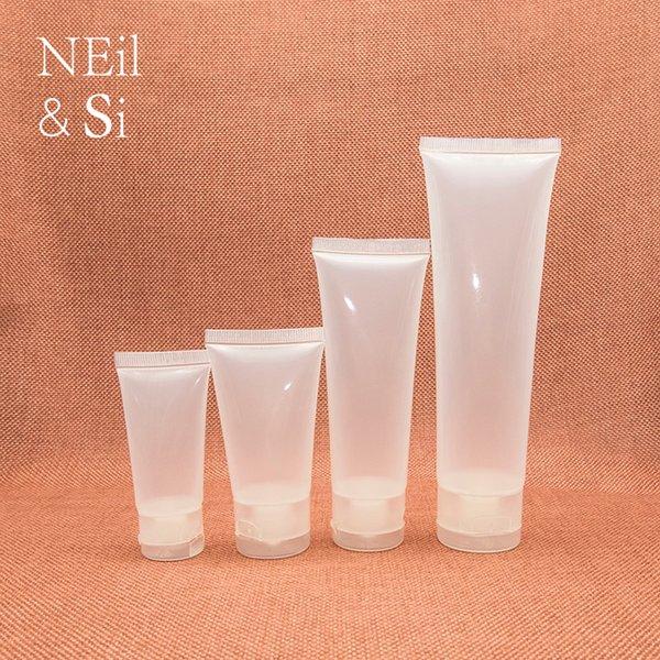 15/30/50 / 100ml Glossy Plastic Soft Tube Riutilizzabile detergente per il viso Crema per le mani Contenitore Vuoto Squeeze Lotion Shampoo Bottiglie