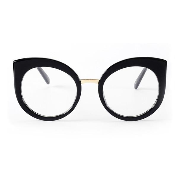 ROYAL GIRL Women Cat Eye Glasses Brand Design Vintage Acetate Frame Clear Oval Lens Eyeglasses ss035