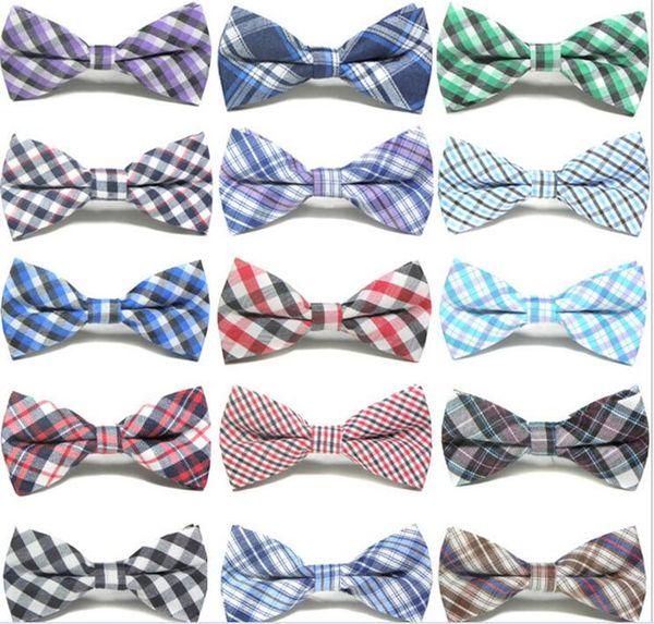 Niños bebés niñas niños 16 colores puro algodón formal smoking Bowtie Bow Tie niños impresos boda corbata envío gratis L001