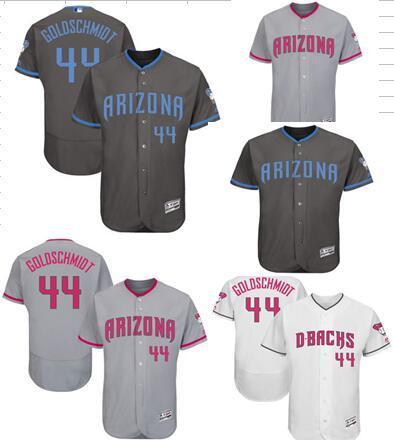 lowest price 93ad0 394b6 2018 2017 Customed Any Men Arizona Diamondbacks Jersey Paul Goldschmidt  Majestic Gray White Father'S Day Mother'S Day Flex Base Baseball Jerseys  From ...