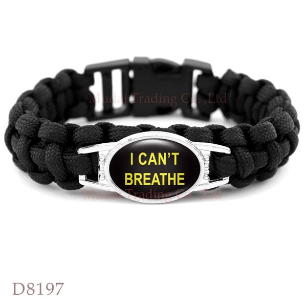 Black Lives Matter This Stops Now Don't Shoot I Can't Breathe Not One More Black Paracord Survival Outdoor Camping Bracelet Christmas Gift