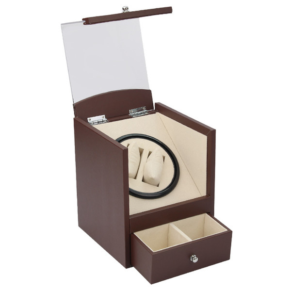 best selling Automatic watch winder in watch box 2 motor box for watches mechanism cases with drawer storage send by DHL Fedex ups Gift Shipping Fast