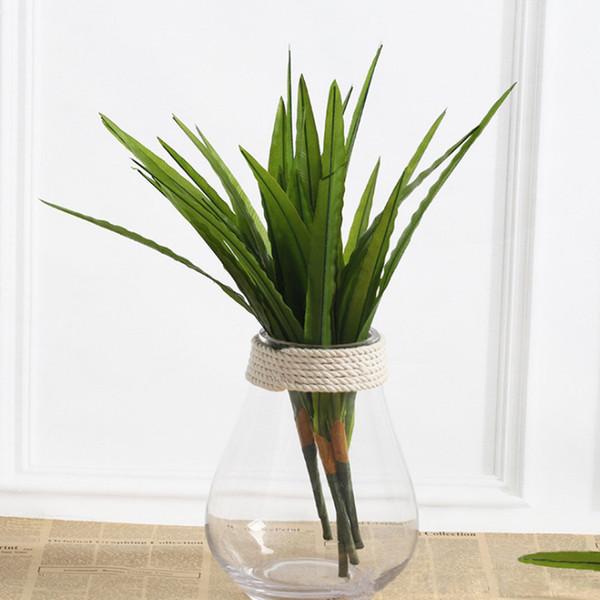 Acheter Ubiz Feuilles Artificielles Feuilles Cymbidium Accessoires De Decoration A La Maison Jardin Artisanat Idee Decorative Fleur Vert Soie Bouquet